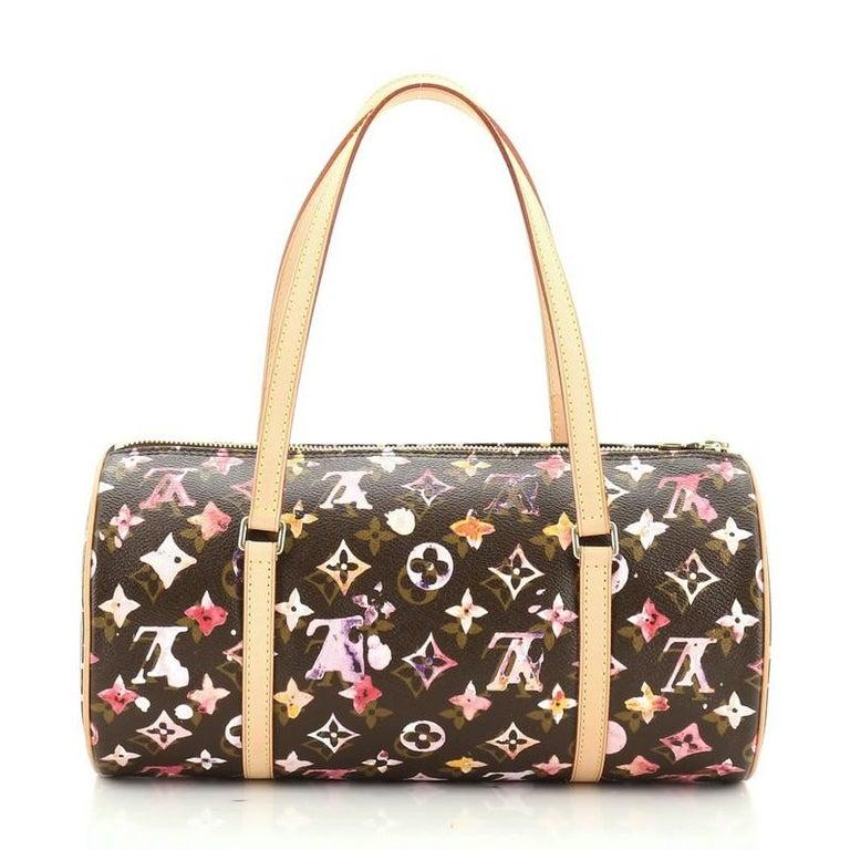 Women's or Men's Louis Vuitton Papillon Handbag Limited Edition Aquarelle Monogram 30