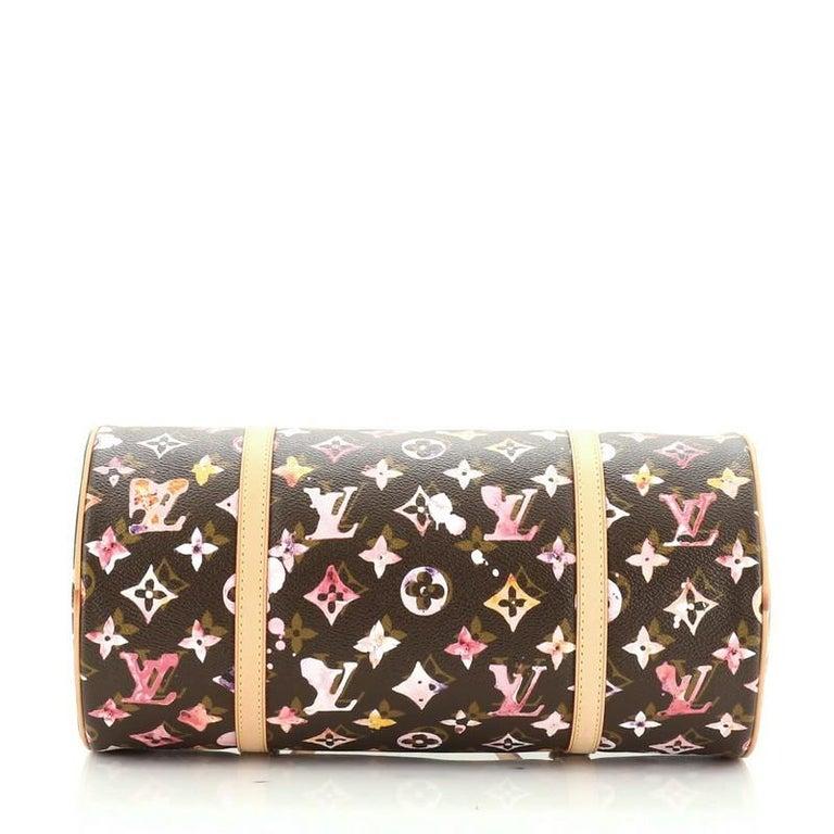 Louis Vuitton Papillon Handbag Limited Edition Aquarelle Monogram 30 1
