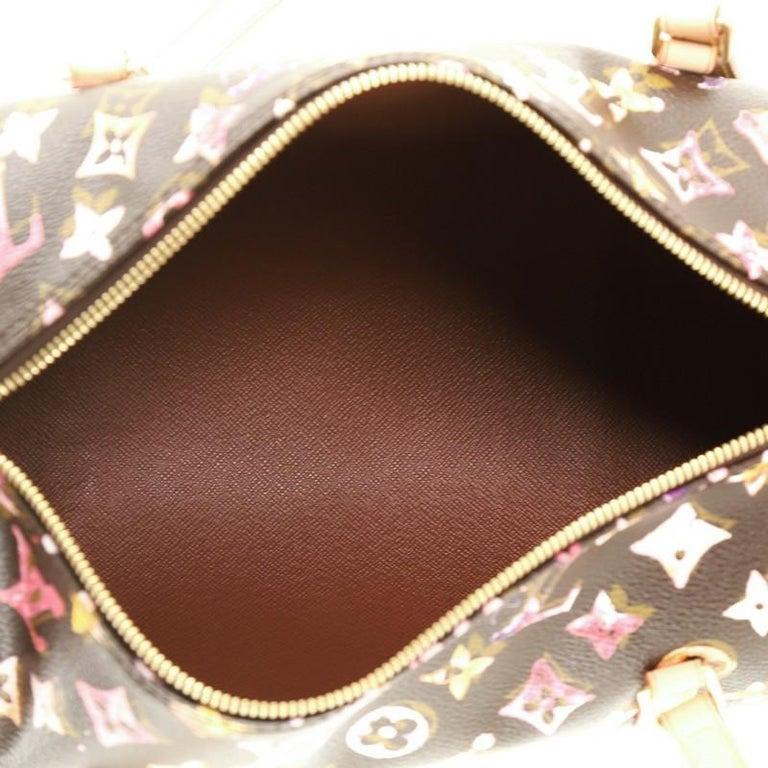 Louis Vuitton Papillon Handbag Limited Edition Aquarelle Monogram 30 2