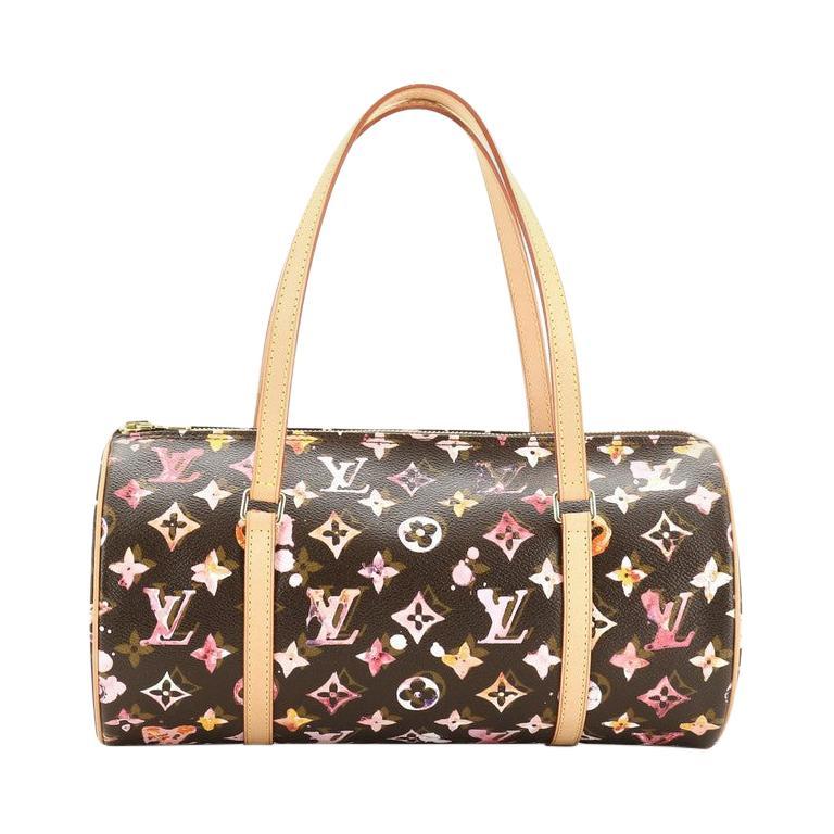 Louis Vuitton Papillon Handbag Limited Edition Aquarelle Monogram 30