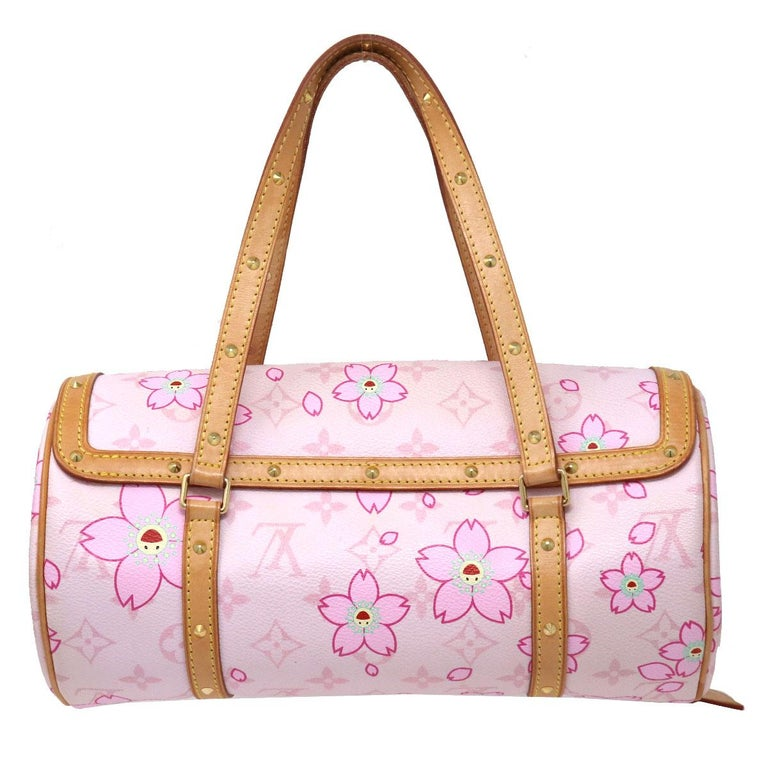 Company-Louis Vuitton Model- Papillon Monogram Cherry Blossom Pink Satchel Color-Pink Date Code-SD0059 Material-Monogram Canvas with flowers Measurements-10