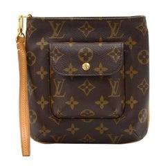 Louis Vuitton Partition Monogram Canvas Wristlet Bag