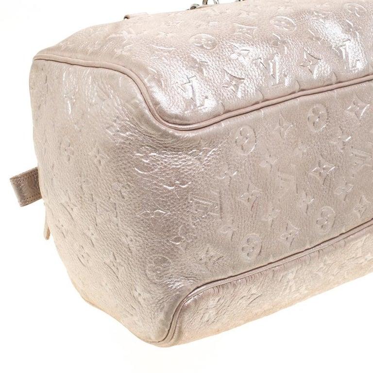 Louis Vuitton Peach Monogram Limited Edition Shimmer Comete Bag 5