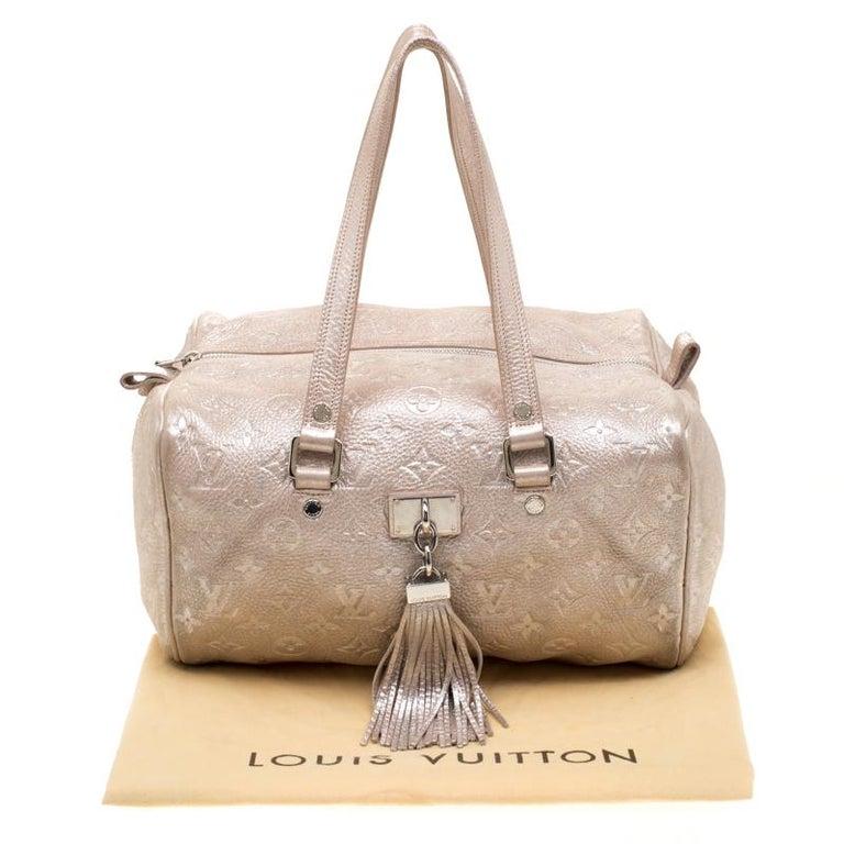 Louis Vuitton Peach Monogram Limited Edition Shimmer Comete Bag 7