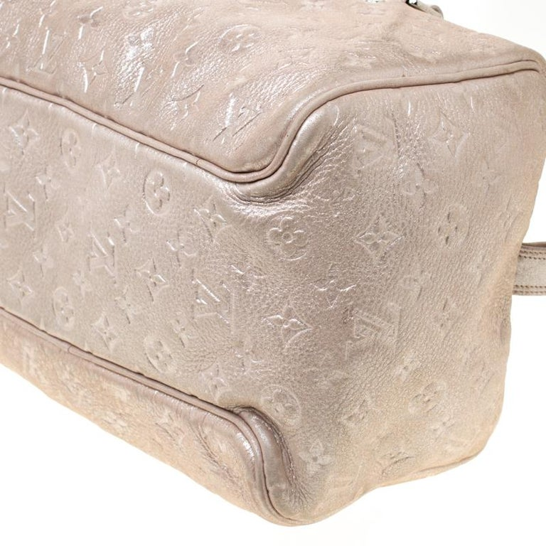 Louis Vuitton Peach Monogram Limited Edition Shimmer Comete Bag 4
