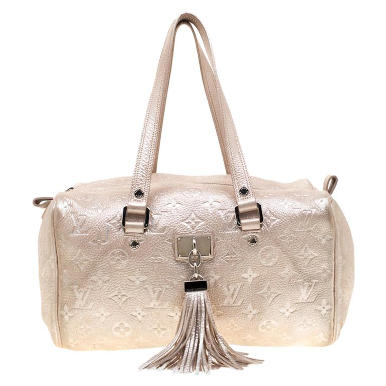 Louis Vuitton Peach Monogram Limited Edition Shimmer Comete Bag