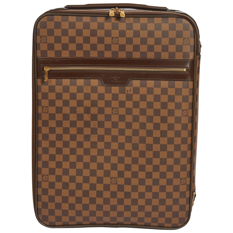 Louis Vuitton Pegase 55 Damier Carry On Travel Suitcase Bag