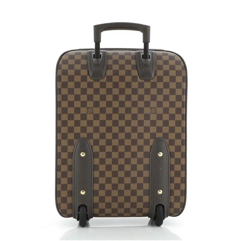 Brown Louis Vuitton Pegase Luggage Damier 45 For Sale