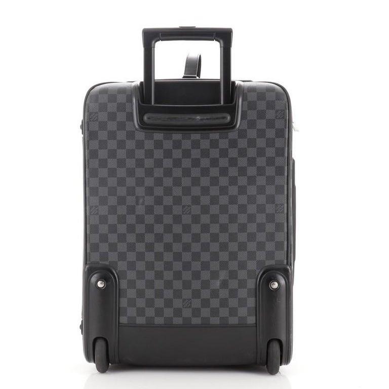 Black Louis Vuitton Pegase Luggage Damier Graphite 55 For Sale