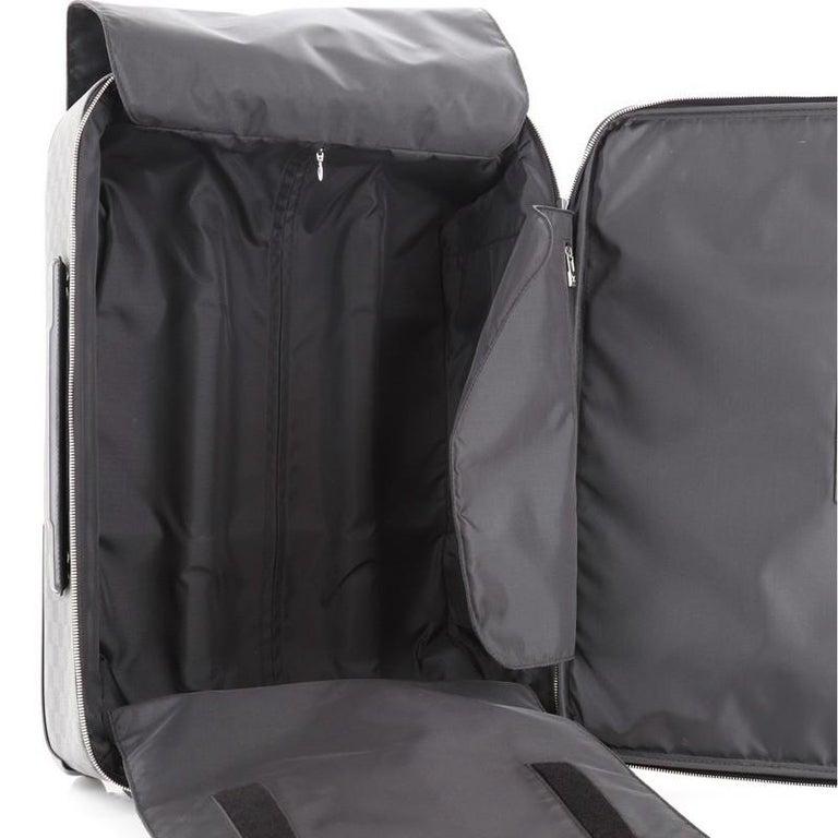 Women's or Men's Louis Vuitton Pegase Luggage Damier Graphite 55 For Sale