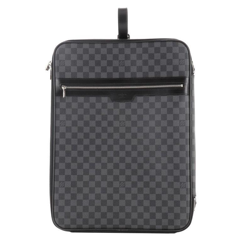 Louis Vuitton Pegase Luggage Damier Graphite 55 For Sale
