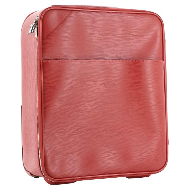 Louis Vuitton Pegase Luggage Red Epi Leather 45 For Sale