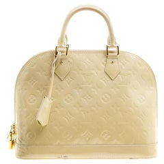 Louis Vuitton Perle Monogram Vernis Alma PM Bag