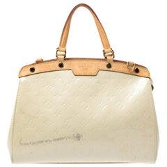 Louis Vuitton Perle Monogram Vernis Brea MM Bag