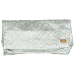 LOUIS VUITTON Perle silver MONOGRAM LIMELIGHT MM Clutch Bag