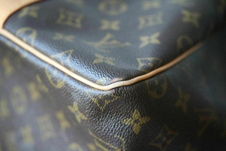 Women's Louis Vuitton Personalised Keepall 55 Mon Monogram Travel Bag For Sale