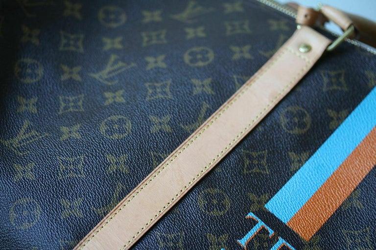 Louis Vuitton Personalised Keepall 55 Mon Monogram Travel Bag For Sale 1
