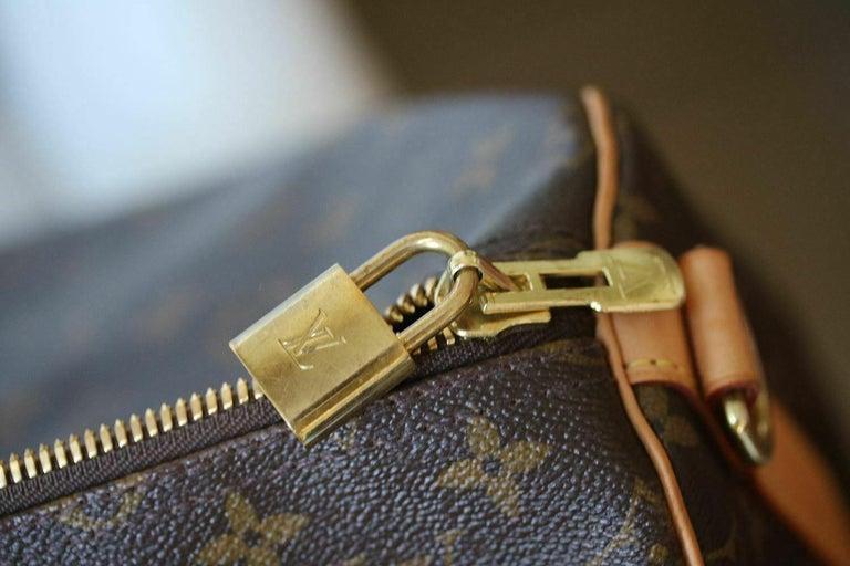 Louis Vuitton Personalised Keepall 55 Mon Monogram Travel Bag For Sale 2