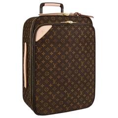 Louis Vuitton Personalised Pégase Légère 55 Business Monogram Canvas Suitcase
