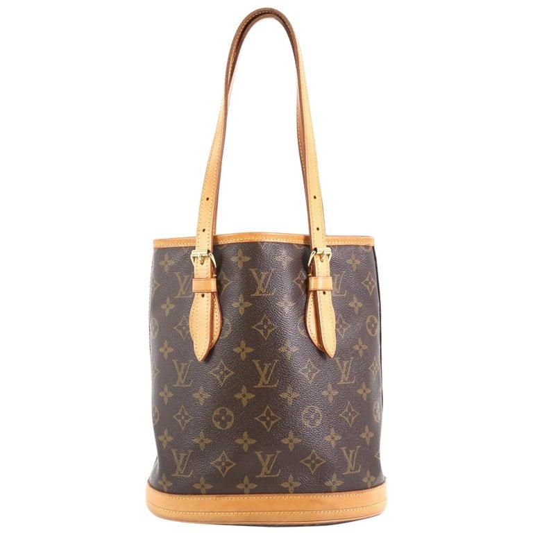 8af224cd6c0 Louis Vuitton Petit Bucket Bag Monogram Canvas