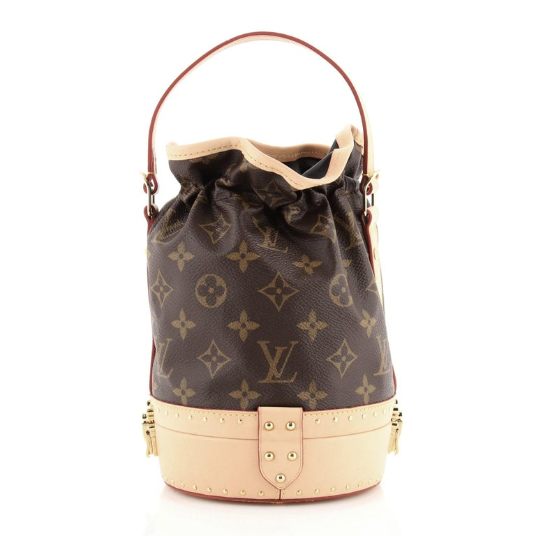Beige Louis Vuitton Petit Noe Trunk Bag Monogram Canvas For Sale