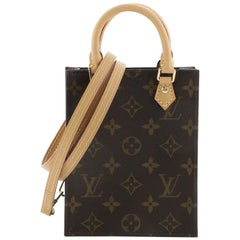 Louis Vuitton Petit Sac Plat Bag Monogram Canvas