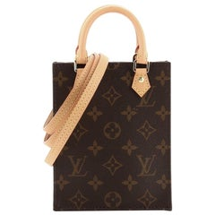 Louis Vuitton Petit Sac Plat Bag Monogram Canvas