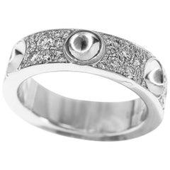 Louis Vuitton Petite-Berg Empreinte Diamonds 18 Karat White Gold Ring