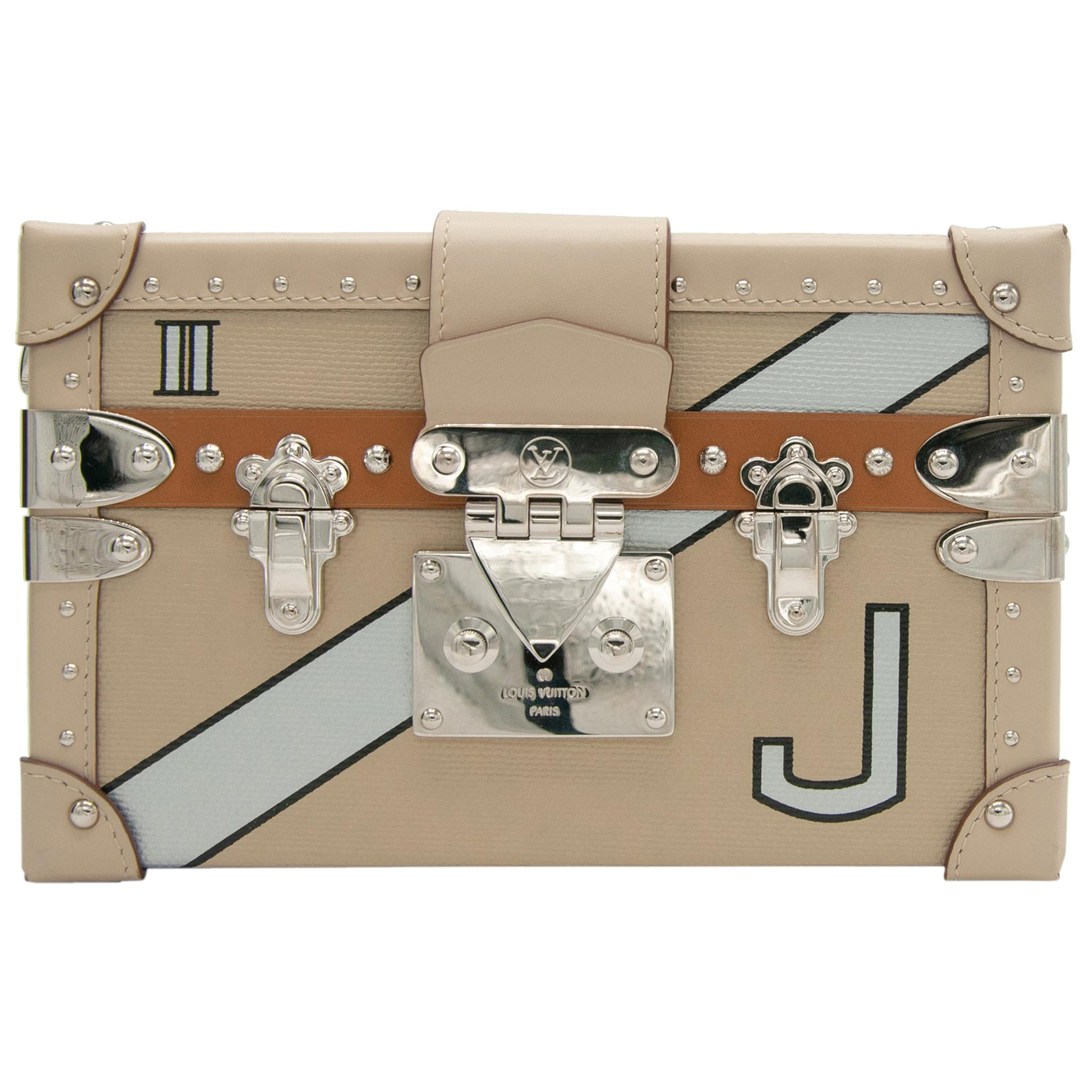 Louis Vuitton Petite Malle Epi Leather Beige