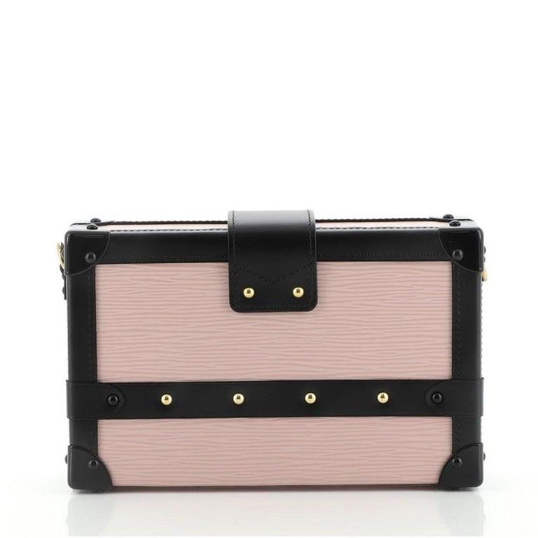 Women's or Men's Louis Vuitton Petite Malle Handbag Epi Leather For Sale