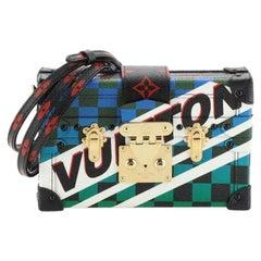Louis Vuitton Petite Malle Handbag Limited Edition Race Print Canvas