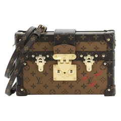 Louis Vuitton Petite Malle Handbag Reverse Monogram Canvas