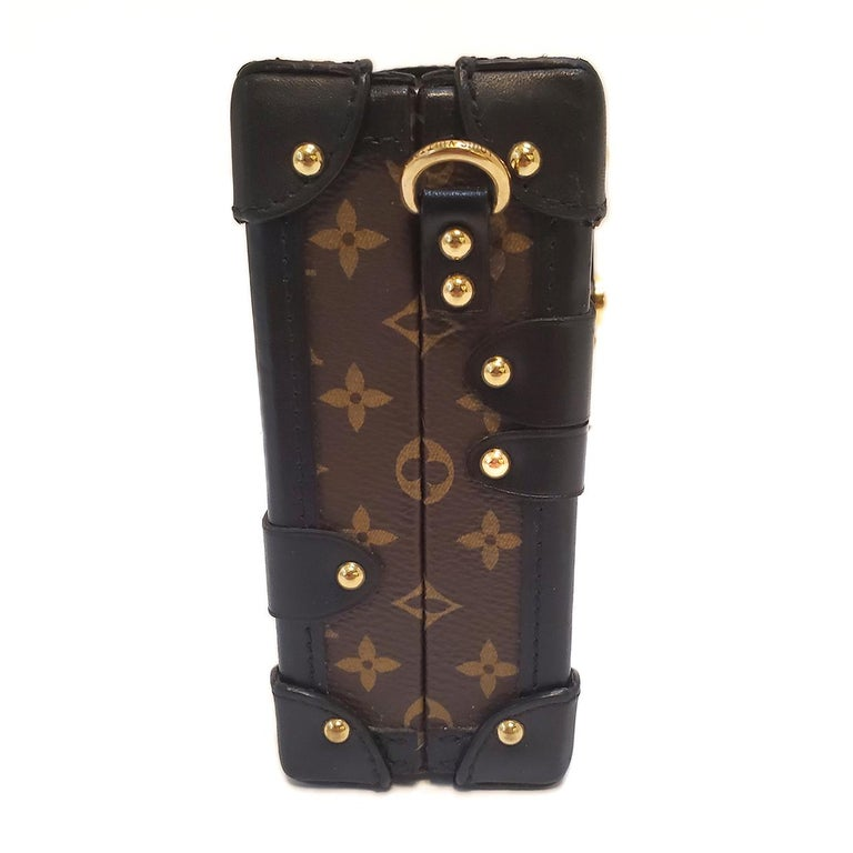 Black Louis Vuitton Petite Malle Patches Stories Brown Monogram Crossbody Handbag For Sale