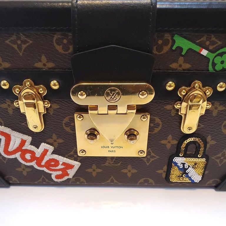 Louis Vuitton Petite Malle Patches Stories Brown Monogram Crossbody Handbag For Sale 1