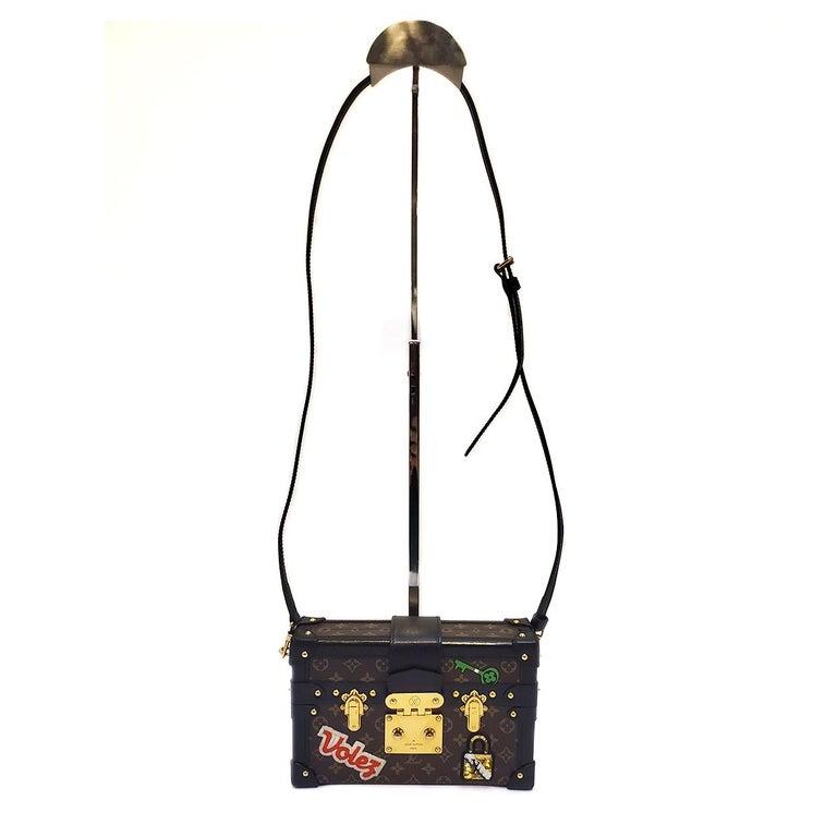 Louis Vuitton Petite Malle Patches Stories Brown Monogram Crossbody Handbag For Sale 4