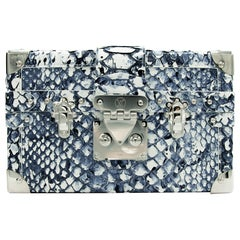 Louis Vuitton Petite Malle Python Blue & White