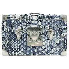 Louis Vuitton Petite Malle Python Blue & White