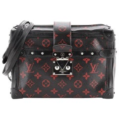 Louis Vuitton Petite Malle Soft Handbag Limited Edition Monogram Infrarou