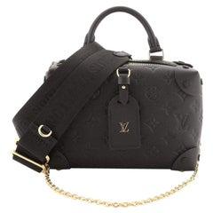 Louis Vuitton Petite Malle Souple Handbag Monogram Empreinte Leather