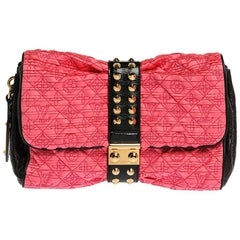Louis Vuitton Pink/Black Monogram Satin and Vernis Limited Coquette Pochette