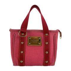 Louis Vuitton Pink Canvas Antigua PM Tote Bag Handbag