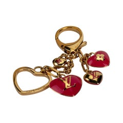 Louis Vuitton Pink Hearts Enamel Bag Charm