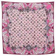 Louis Vuitton Pink Innocence Silk Square Scarf