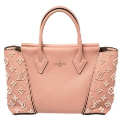 Louis Vuitton Pink Leather And Monogram Velours BB Tote
