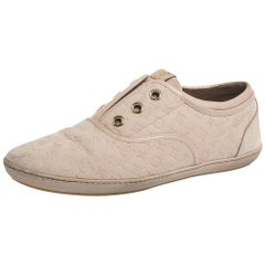 Louis Vuitton Pink Monogram Embossed Nubuck Popincourt Sneakers Size 37.5
