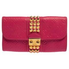 Louis Vuitton Pink Monogram Leather Courtney Clutch