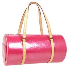 Louis Vuitton Pink Patent Leather Small Top Handle Satchel Pochette Shoulder Bag