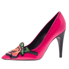 Louis Vuitton Pink Patent Stephen Sprouse Rose Pumps Size 37