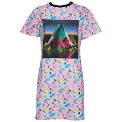 Louis Vuitton Pink Printed Cotton Sweatshirt Dress M