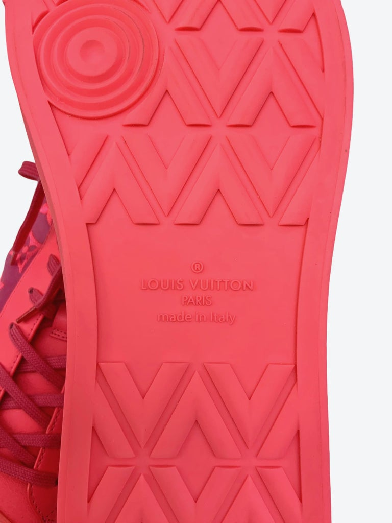Louis Vuitton Pink Tattoo Sneakers For Sale 6